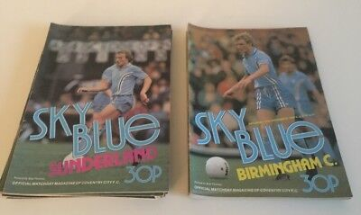 Coventry City - Job lot - 15 Programmes - All listed - 1980/81