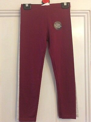 Brand new pack of 2 girls cotton leggings, age 5-6 years