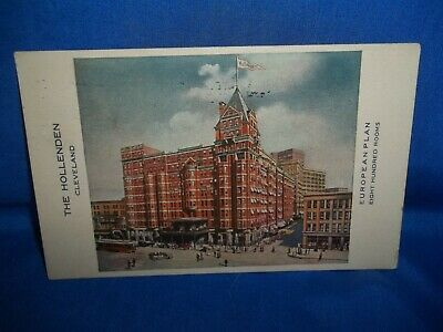 Very Nice 1919 Antique PC The Hollenden Cleveland Ohio 800 Rooms