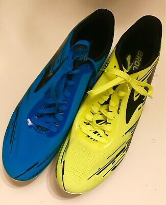 81bc8b519f9 NICE Brooks Mach 18 Track Cross Country Spikes - Men s Size 8.5 - Blue