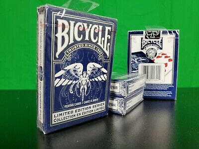 Bicycle Limited Edition Series Ohio Made Blue deck of Playing Cards MINT!!