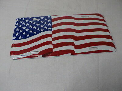US FLAG / Stars & Stripes -  Auto Tag - License Plate ( Embossed Type )