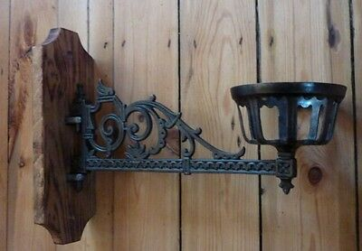 Highly Ornate Large Unique Upcycled Cast Iron Wall Candle Holder (church sconce)