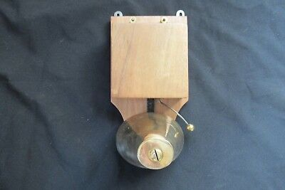 Restored Antique Wood & Brass Electric Conical Doorbell - 4.5 - 9 Volts