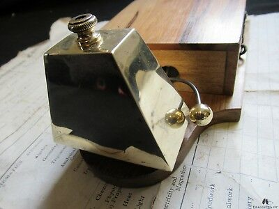 Unusual Art Deco Antique Wood & Brass Electric Doorbell 4-6 volts (butlers maid