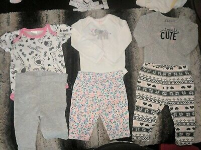 Lot of 3 baby girl set outfits Nb-3months mixed brands