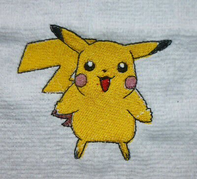 """POKEMON GO DANCING PIKACHU PATCH EMBROIDERIED IRON//SEW ON APPLIQUE 2.7/""""X3.1/"""""""