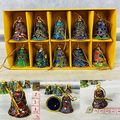 Collectible CHINESE Cloisonne High Bell set of 10