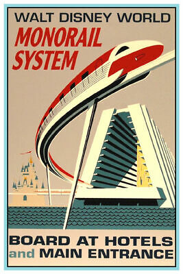 Disney World Monorail - Collector's Poster  ( B2G1 Free!! )