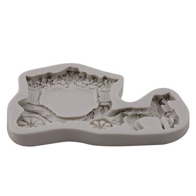 Horse Carriage Fondant Cake Mold Chocolate Baking Craft Silicone Mould BL3