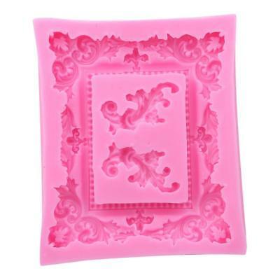 Sugarcraft Rectangle Picture Frame Cake Chocolate Sugarcarft Silicone Mould BL3