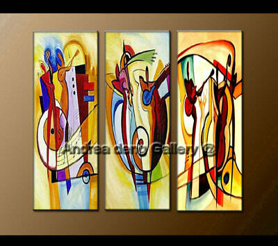 Large Framed Wall Art Modern Music Dance Abstract Oil Painting on Canvas Decor