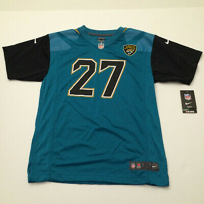10fd83908bdf5 Nike NFL Jacksonville Jaguars Fournette Football Jersey  27 Teal Boys Youth  XL