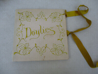 Handmade doily book Lot of 12 Doylies Lace Embroidery Crocheted Antique Vintage