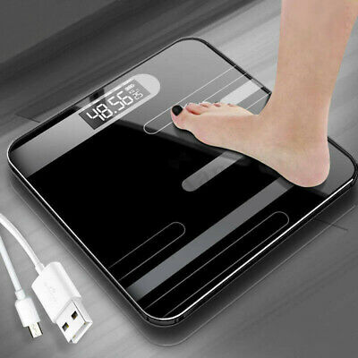 Electronic Digital Toughened Glass Body Bathroom Scale 180KG scales Gym Weight