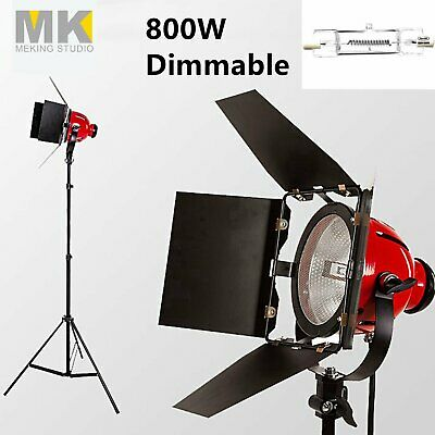 Dimmable 800W 3200K Red Head Continuous Light Lighting Kit fr Photo Video Studio