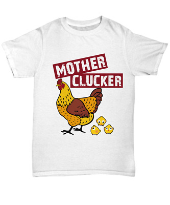 518c6abc Funny Chicken Mom T-Shirt Mother Clucker Unisex Tee Gift Farmer Women Hen  Mama