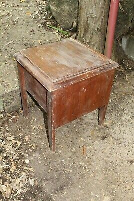 Antique Vintage Timber Commode Toilet Cabinet