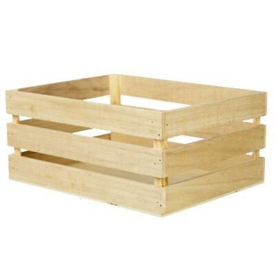 NEW Francheville Wood Crate Storage Box By Spotlight