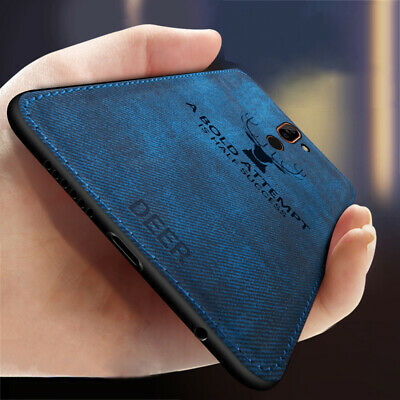 For Nokia 7 7.1 6.1 5.1 Plus Deer Pattern Cloth Slim Silicone Matte Case Cover