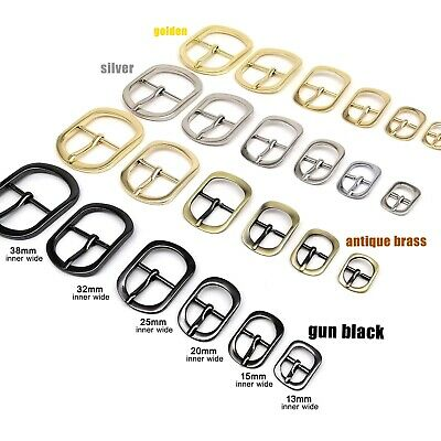 2//510//20pcs Metal Leather Bag Strap Shoulder Belt Adjust Roller Pin Buckle Snap