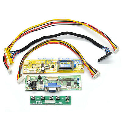 UNIVERSAL LCD DRIVER Controller Board DIY Monitor Kit VGA Input LVDS Output  US