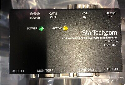 Startech.Com VGA Video and Audio over CAT5 Mini Extender ST122UTPA Local Unit