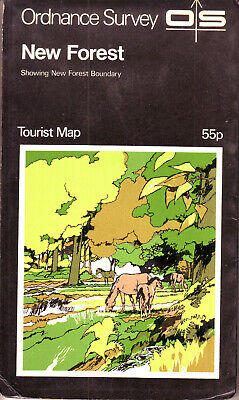 NEW FOREST ORDANCE SURVEY MAP TOURIST MAP and GUIDE VGC !