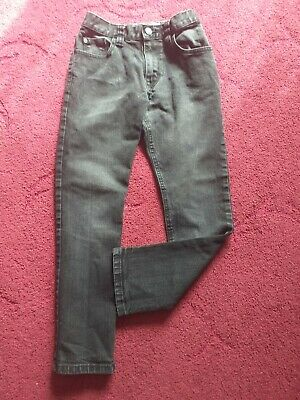 NEXT Boys age 9 years (134cm) black straight jeans.  FAST POSTAGE
