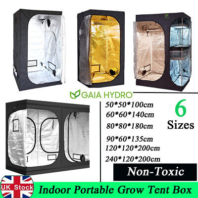 Indoor Small Large Grow Tent Box Silver Mylar Hydroponics Bud Green Room 7 Sizes