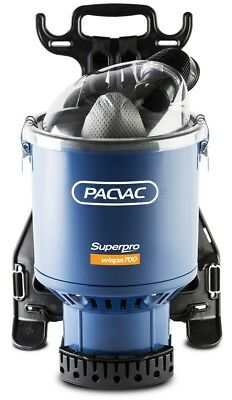 2 X Pacvac Superpro 700 Wispa commercial backpack. Reduced noise and energy use.