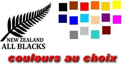 stickers all blacks, new zealand rugby-sticker autocollant  taill+coule au choix