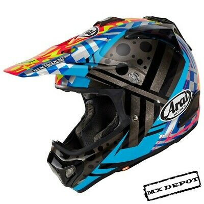 Arai Mx-V Barcia Motocross Helmet Black / Yellow / Blue / Pink Mx Enduro Helmet