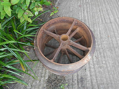 1 cast iron wheel vintage antique garden ornament feature barn find 32 available
