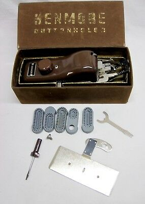 Vintage Sears Kenmore Sewing Machine Buttonholer w/5 Templates & Box