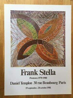 Frank Stella  French exhibition Poster 1981 Minimalism Modernist Pop Art Retro