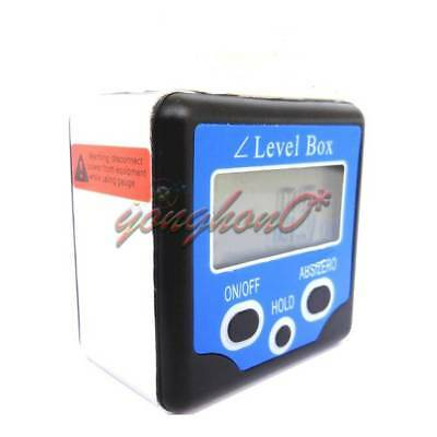 Digital Level Box Gauge Angle Protractor Inclinometer Magnetic Base 0-360° Blue