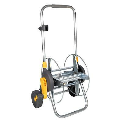 Hozelock 60m Assembled Hose Cart with Wheels & Soft-Grip Handle - no Hose - Grey