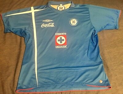 a8dc5889ef4 Vintage 2005 Cruz Azul Umbro Soccer Jersey Mens Sz L/XL Mexican League