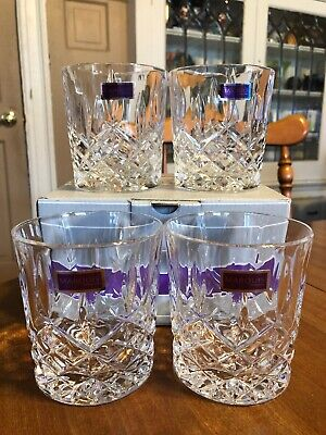 Marquis by Waterford Markham Double Old Fashioned set of 4 Glasses Italy NEW