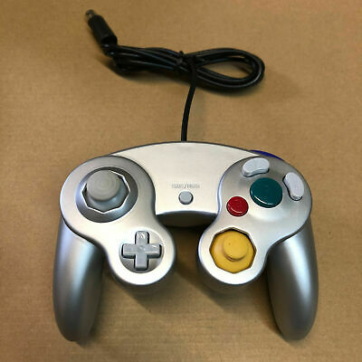 Nintendo GameCube Controller Remote for GC & Wii Silver - Ships With Tracking