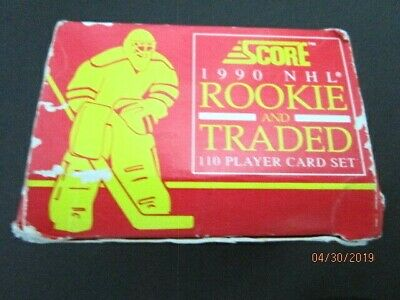 1990 NHL Score Hockey Factory Set Rookie and Traded, 110 cards - A1
