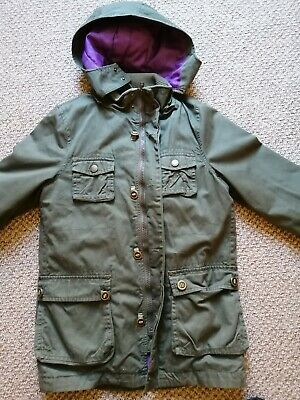 Ted Baker green parka style girls coats age 11 to 12