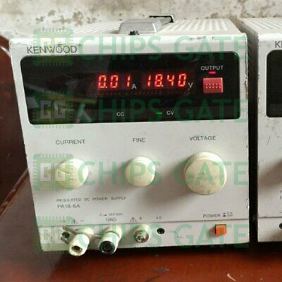 1PCS Used Kenwood PA18-6A DC Stabilized Voltage Source In Good Condition