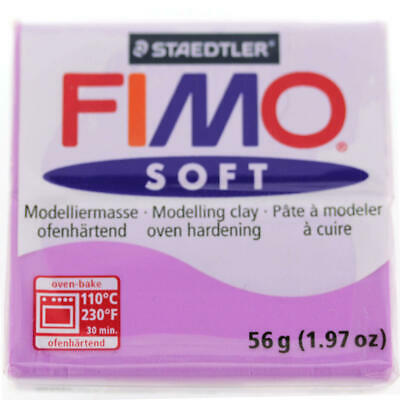 FIMO Soft Polymer Modelling Clay no 62 - Lavender - Two 56g blocks