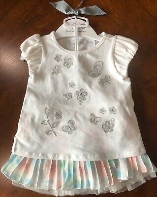 NWT First Impressions Baby Girl 6-9 mo T-shirt and Skirt 2-Piece Outfit