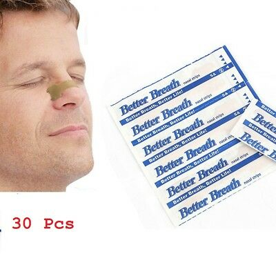 30 Anti Snoring Strips Better Breathe Stop Snore Aid to Easy Sleeping Nasal Nose