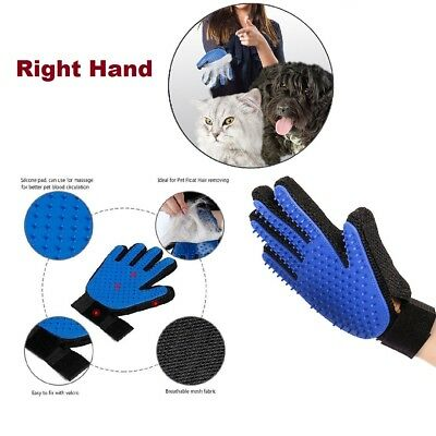 Pet Grooming Glove Deshedding Brush Fur Remover Mitt for Dog Cat Comb Right Hand