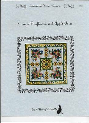 Summer Sunflowers & Apple Trees Counted Canvas Kit Nancy's Needle