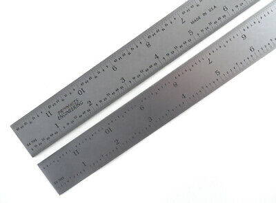 "PEC Blem Cosmetic Second 6"" Flexible Ruler 16 Grads (1/50, 1/100, 1/32 & 1/64)"